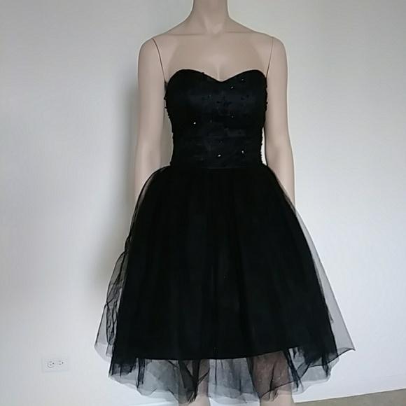 Dresses Black Strapless Homecoming Dress Poshmark